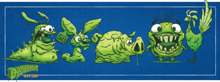 The newest inhabitants of Dimension X-Crement, the Snotimals.