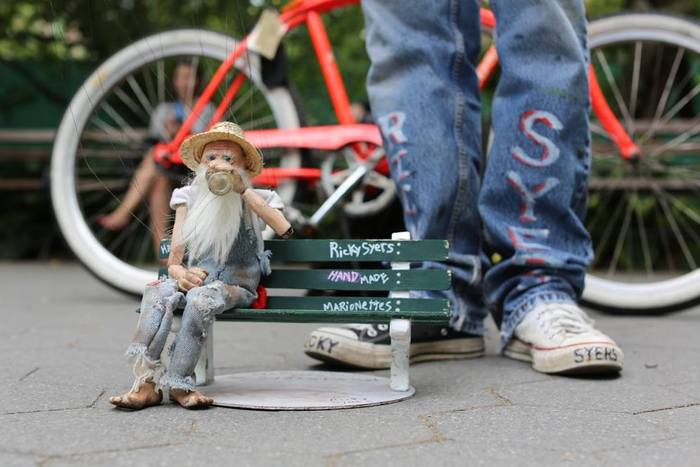 Stix, hangin' on his bench