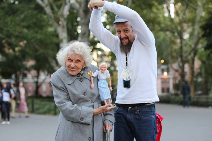 Ricky made a custom Marionette for Doris, one of his favorite visitors!
