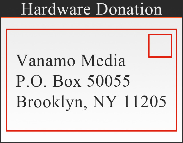 Every hardware donation helps