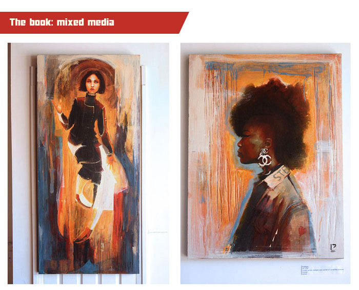 And his mixed media works have been exhibited and sold in galleries all around the world!
