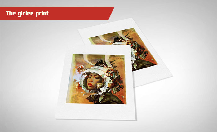 The giclee will be printed on 100% cotton rag fine art paper using archival inks