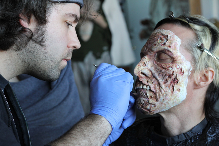J. Anthony Kosar on the set of LAST STAND