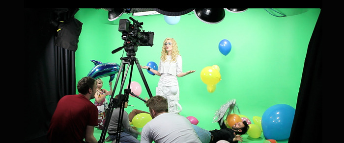 The filming of The Future music video
