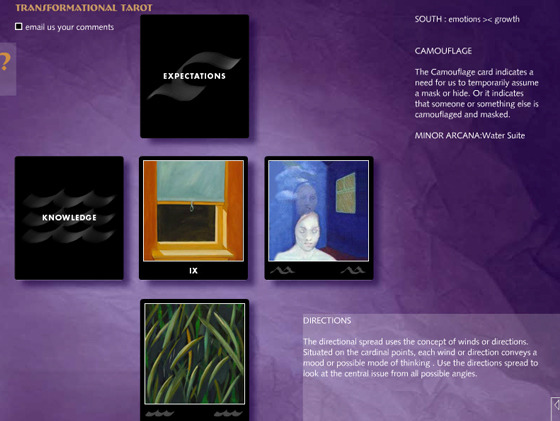 A 5-card Game on The Transformational Tarot
