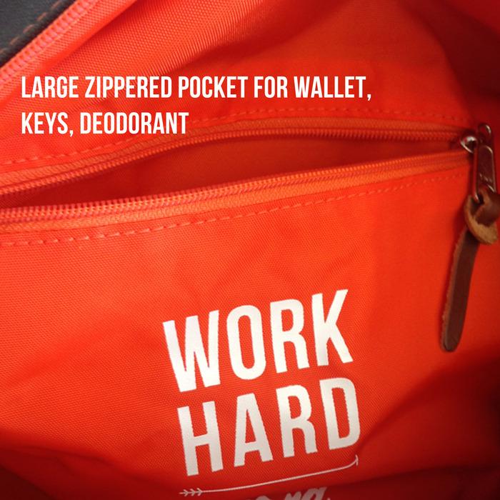 This Duffel's got an internal zipper pocket
