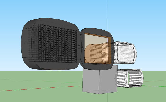 First rough digital sketches in Sketchup, April 2013