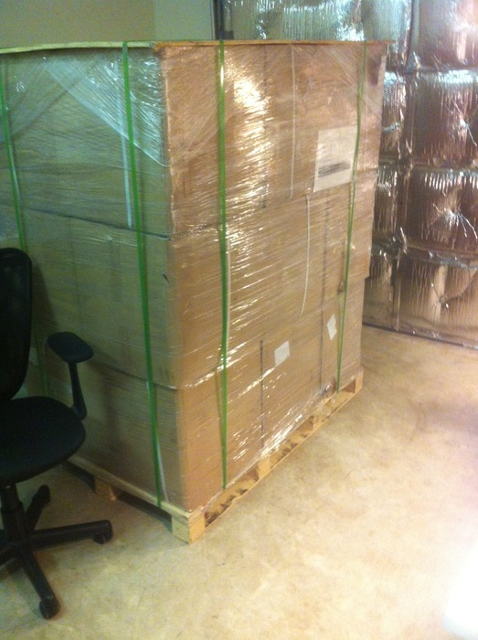 Our custom-made cases after arriving from China