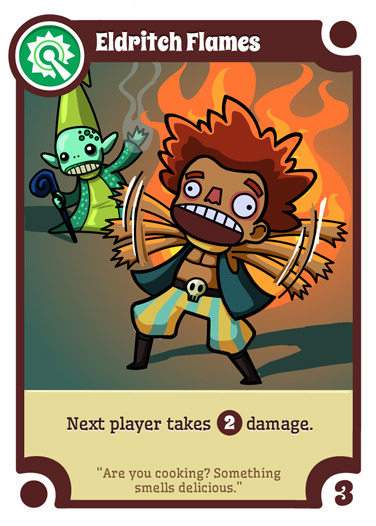 Eldritch Flames - a WANDS card