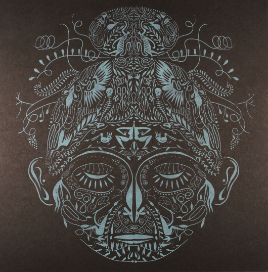 An example of a previous screen print by Lilli Carré, from a series called Totem.