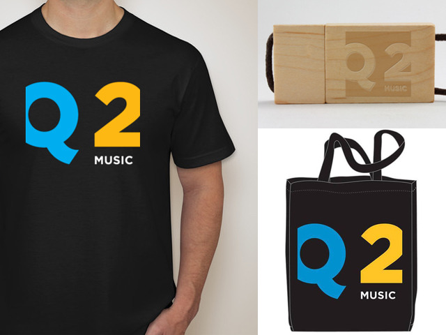 This is a mosaic of our swag (T-shirt, flash drive, tote). Whoa!