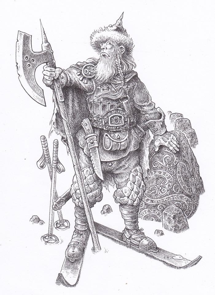 Hutzlun Warrior by Gary Chalk
