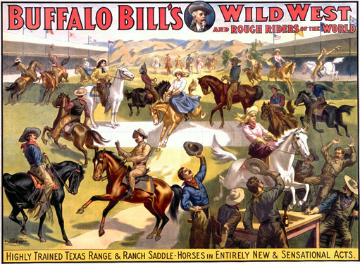 1892 poster for Buffalo Bill's Wild West.
