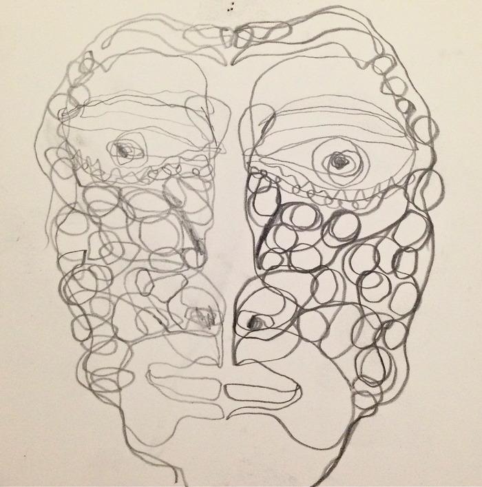 Original Two Hand Drawing