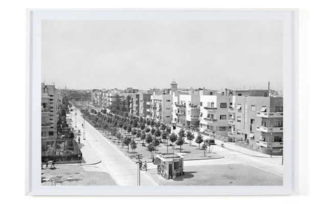 Rothschild Boulevard, 1936, from the Pri-Or PhotoHouse's archive.