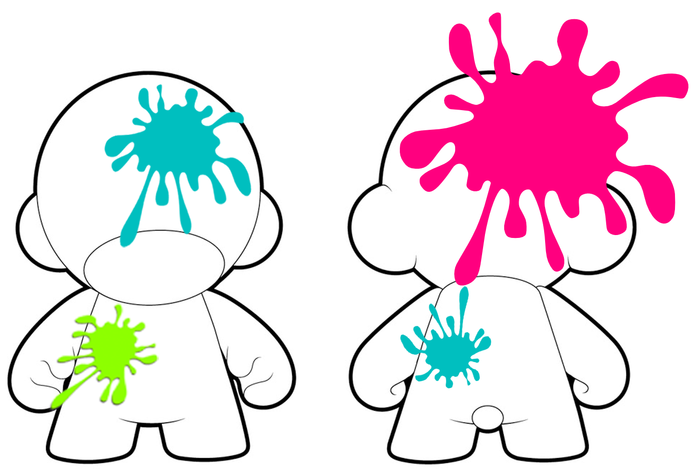 """An army of 7"""" Kidrobot MUNNYs will be customized by exhibit visitors with paint ball guns"""