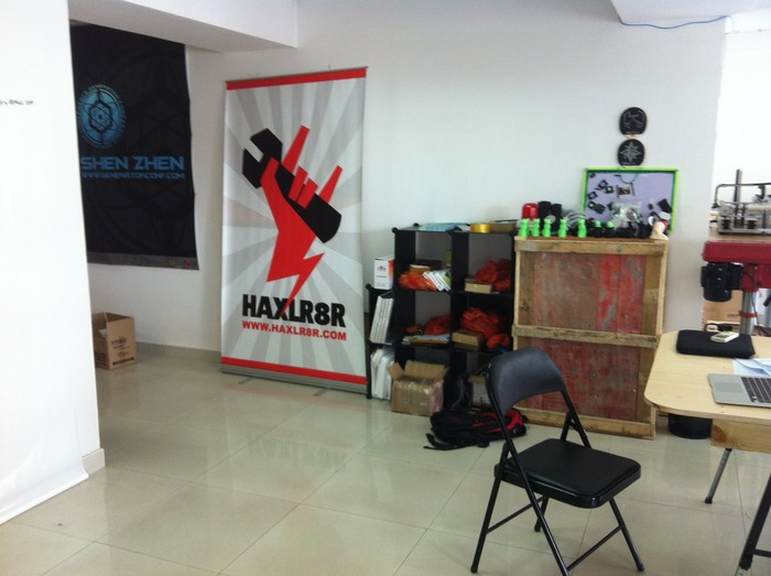 At the HAXLR8R Office in Shenzhen. Go Hardware!