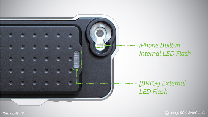* MODEL: [BRIC+] 2450mAh Machined Aluminum Power Case with NO 3.5X Optical Lens   Silver/Black