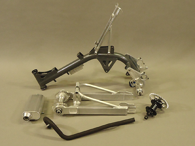 Parts included in the motoped kit