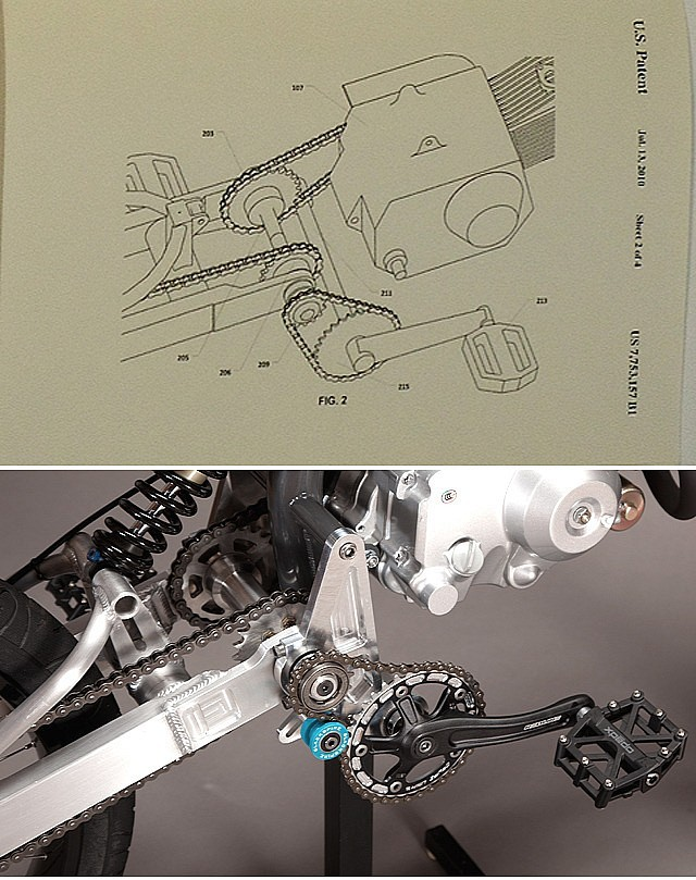 Patented pedal-drive system