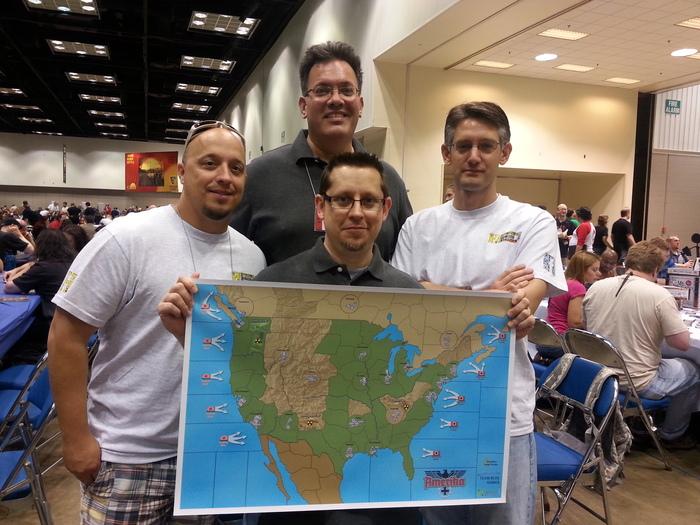 HBG staff: Doug, Mike, Adam, and Chris with our original development map