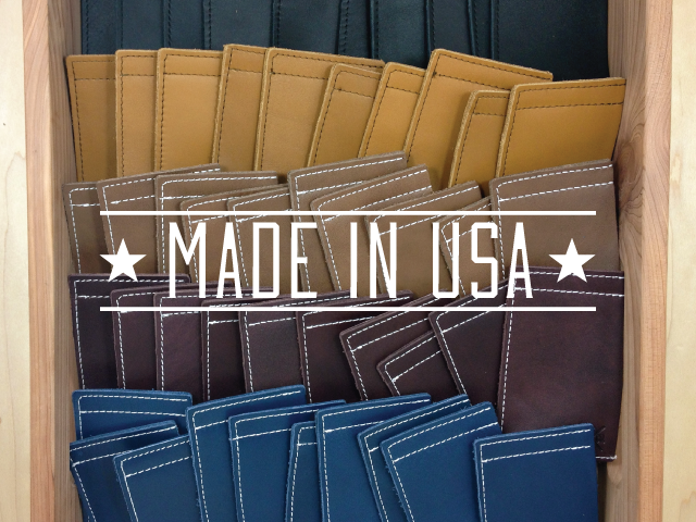 Our first production run of 100 wallets.