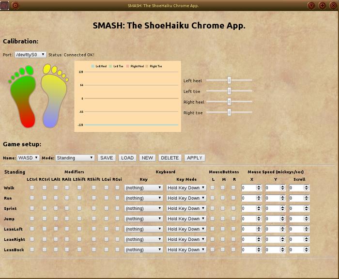 SMASH - the Chrome App that configures your ShoeHaiki