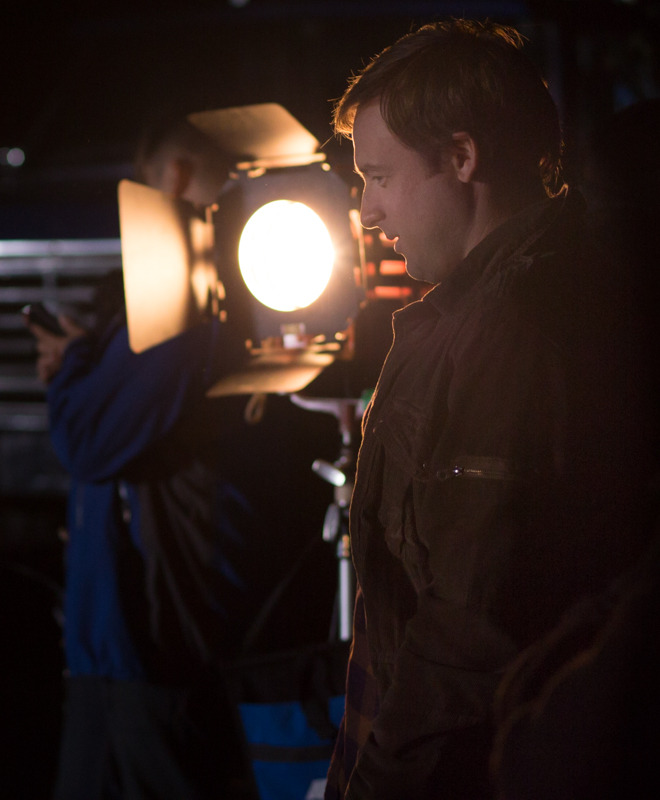 Lane Edwards (Arrow) taking a few moments to prepare in the warmth of one of our lights