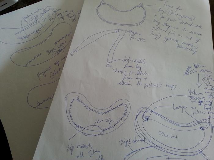A couple of Gemma's design 'scribbles'...