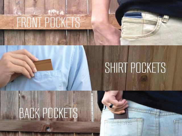 The Clean-Cut Wallet fits anywhere without creating an unsightly and uncomfortable bulge.