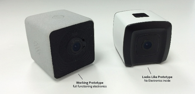 A working prototype on the left and a looks like prototype on the right