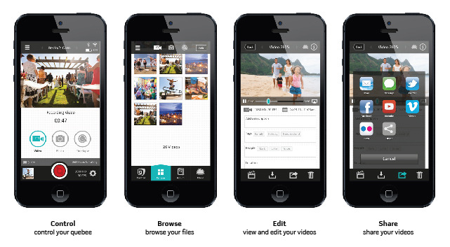 concept images of the smartphone app