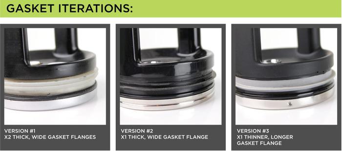 Adjustments to the original gasket design