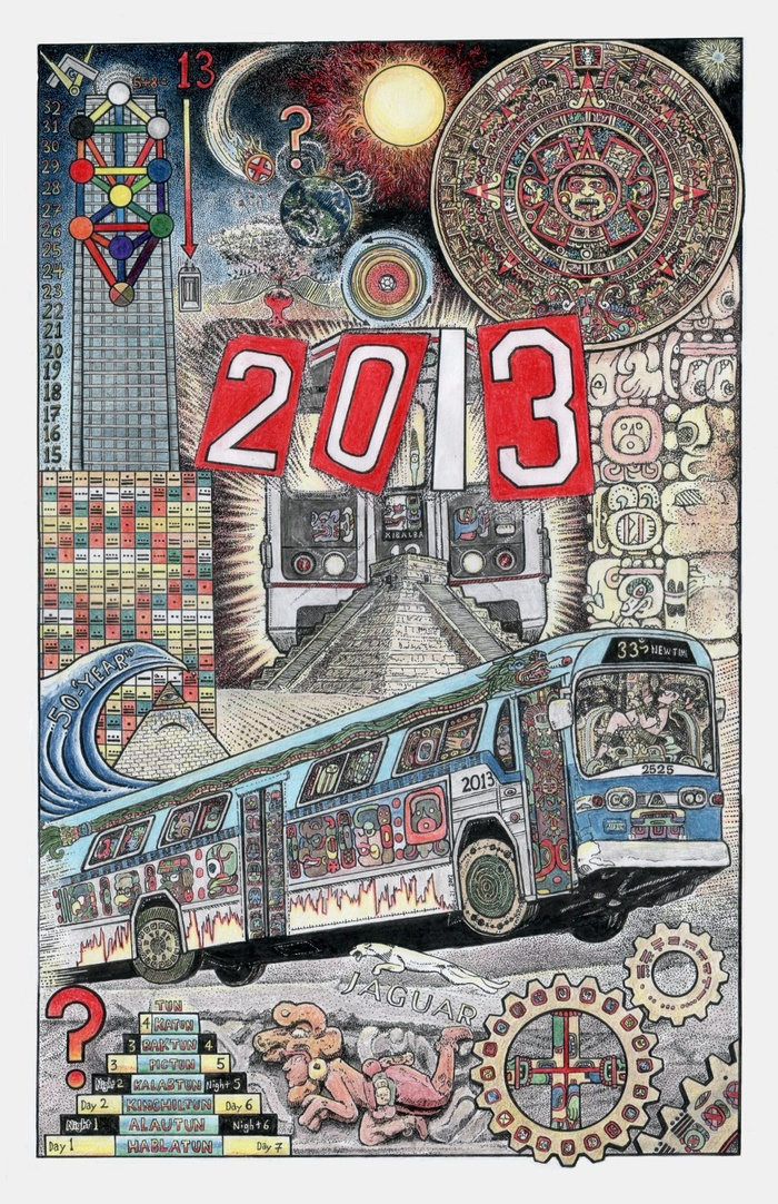 Pic. from Chapter 5: Speed'ing Through 2012 and the End of the Maya Calendar! (print option # 5.)