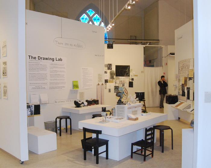 The Drawing Lab Installation at the New Art Center