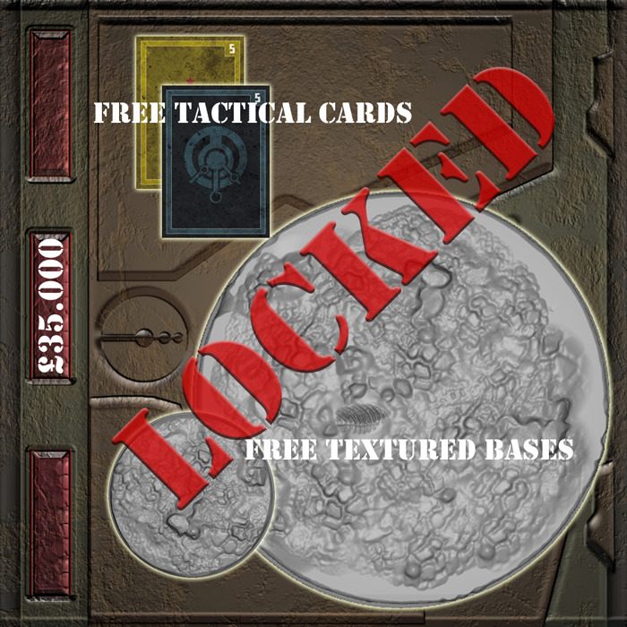 £35.000 - Textured bases for ALL minis PLUS 2 extra Tactical Cards FREE in every Starter Set