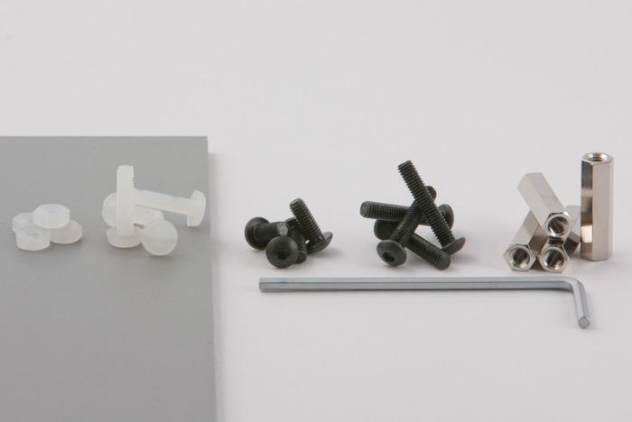 Standard kit screws and tool