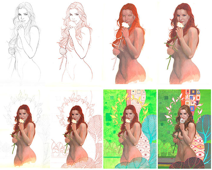 The oil painting for the cover of the book will be explained, from initial pencil sketch to the last brush stroke.