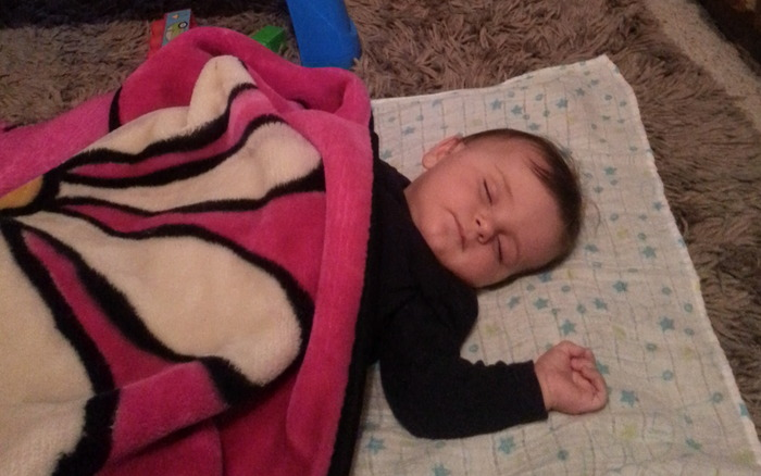 Our son loves a good power nap!