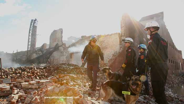 Searching millfire remnants for possible missing persons