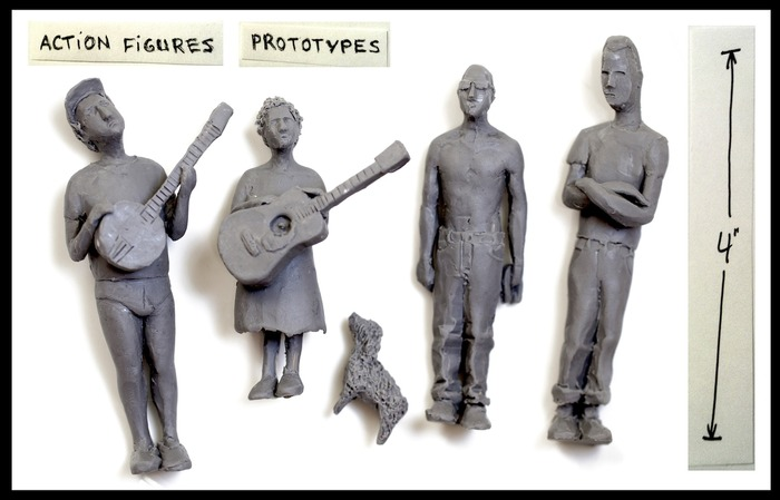 Action figures prototypes! Pick your favorite, we'll cast it in resin or silver!
