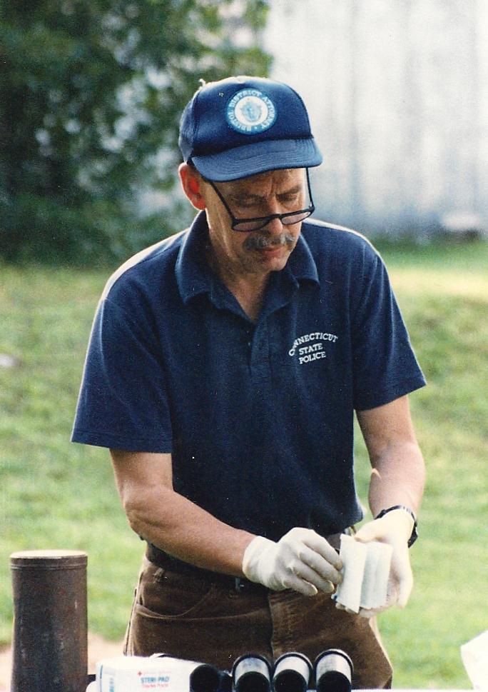 Legendary K-9 Search Specialist Andy Rebmann, 1990.