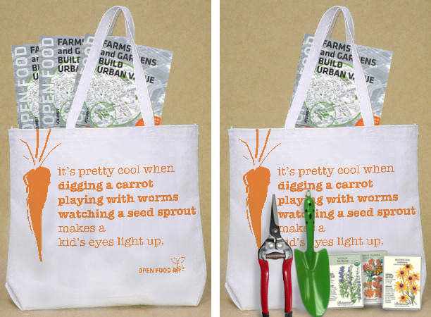 Sturdy grocery bag, and Gardener's Thank You