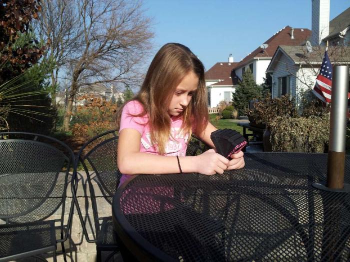 Daughter using Phone