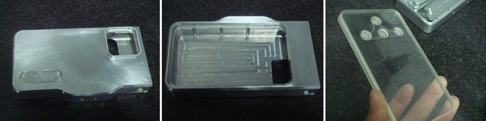 Machined parts from our manufacturer before anodizing.