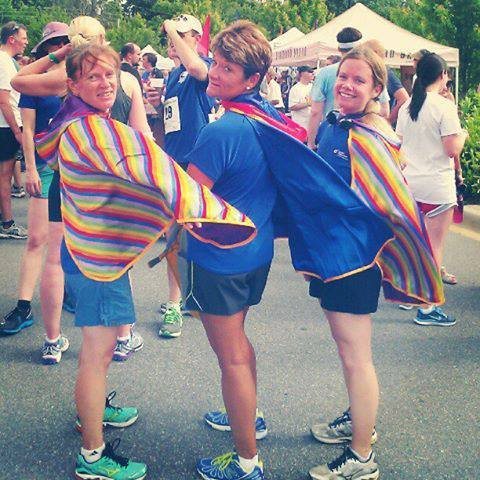 were all about these ladies running an Asheville chamber 5K!