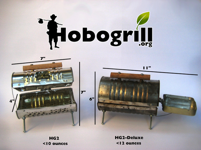 Hobogrill HG2 and HG2-Deluxe Dimensions and Weight of each grill in ounces