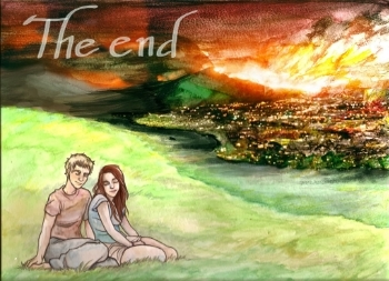 The End #2 Cover (The End is permanently on the cover):  Cover was printed horizontally so that the cover could be split in half, with half on the front of the comic, and the other half on the back of the comic.