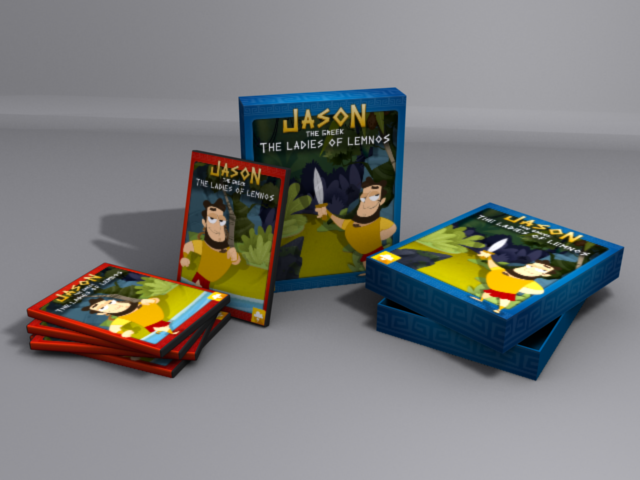An early mockup design for the DVD's and Big Box's