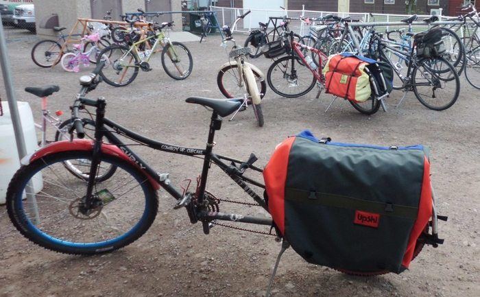 Xtracycle with UpSki bags